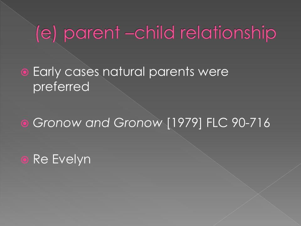 (e) parent –child relationship