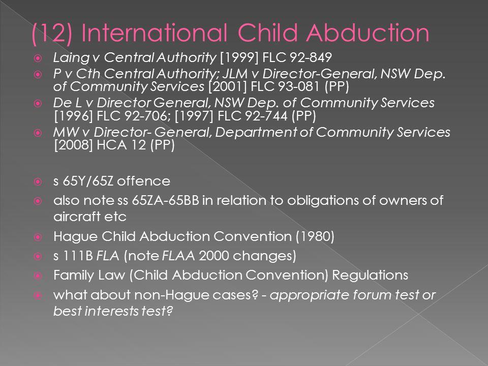 (12) International Child Abduction