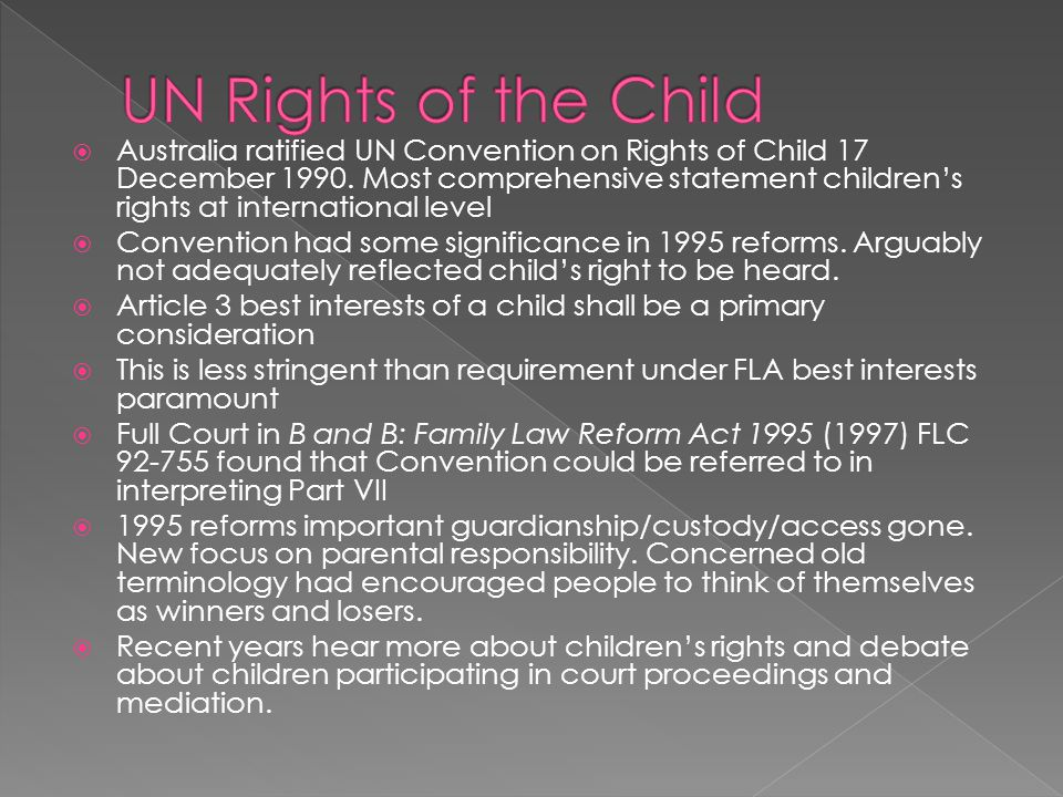 UN Rights of the Child