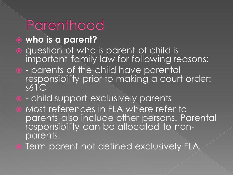 Parenthood who is a parent