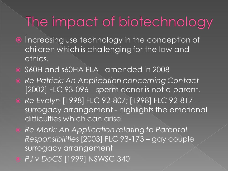The impact of biotechnology