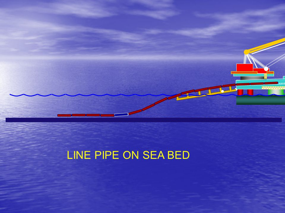 HD 423 LINE PIPE ON SEA BED