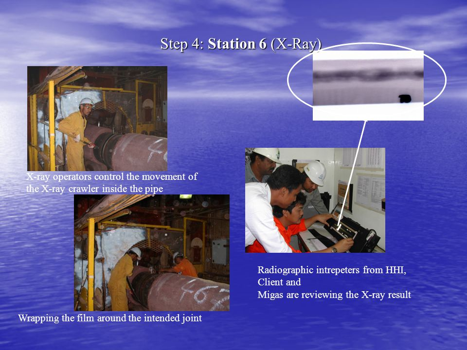 Step 4: Station 6 (X-Ray) X-ray operators control the movement of