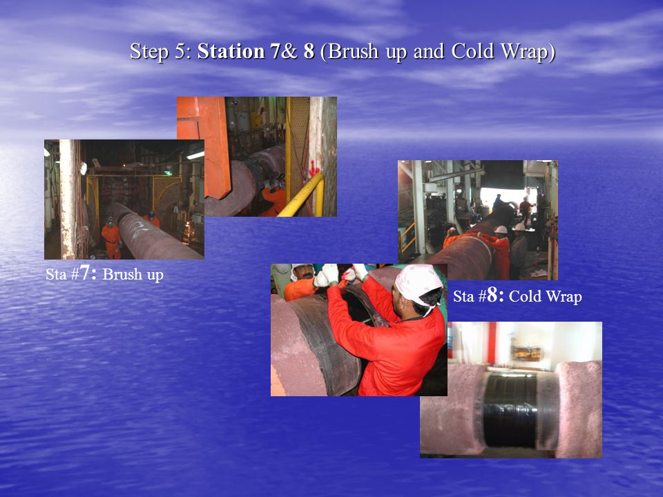 Step 5: Station 7& 8 (Brush up and Cold Wrap)