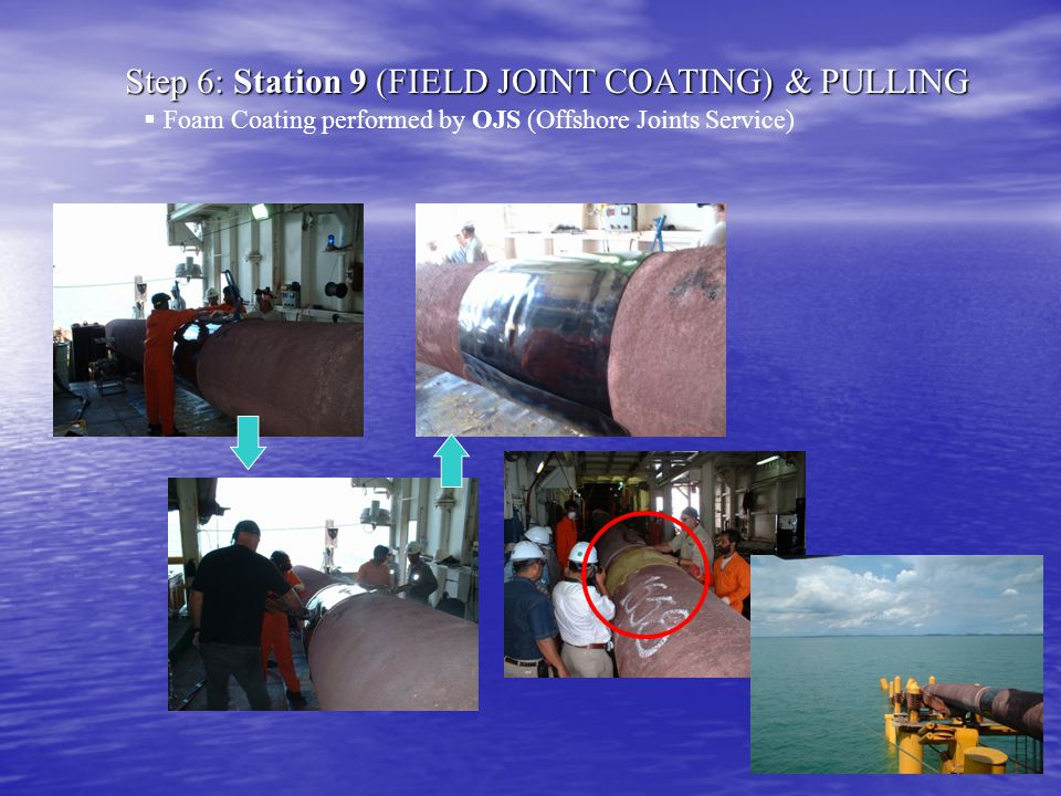 Step 6: Station 9 (FIELD JOINT COATING) & PULLING