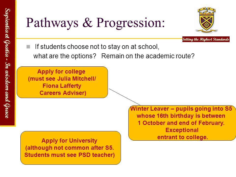 Pathways & Progression: