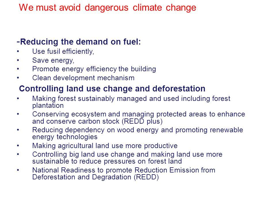 We must avoid dangerous climate change
