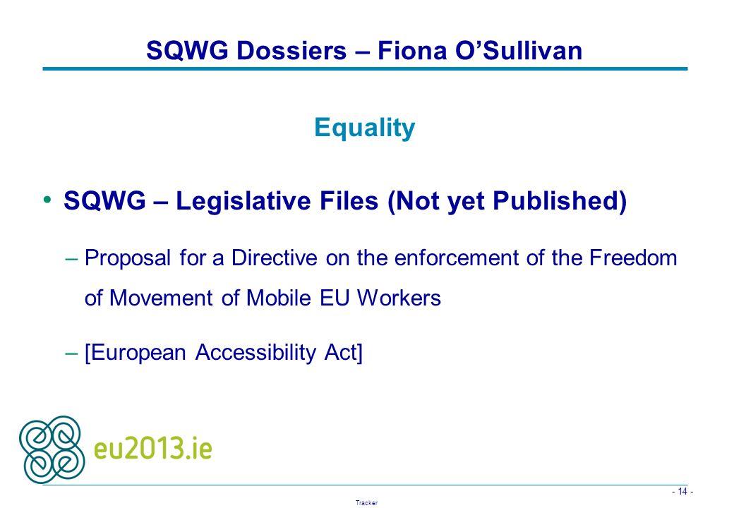 SQWG Dossiers – Fiona O'Sullivan