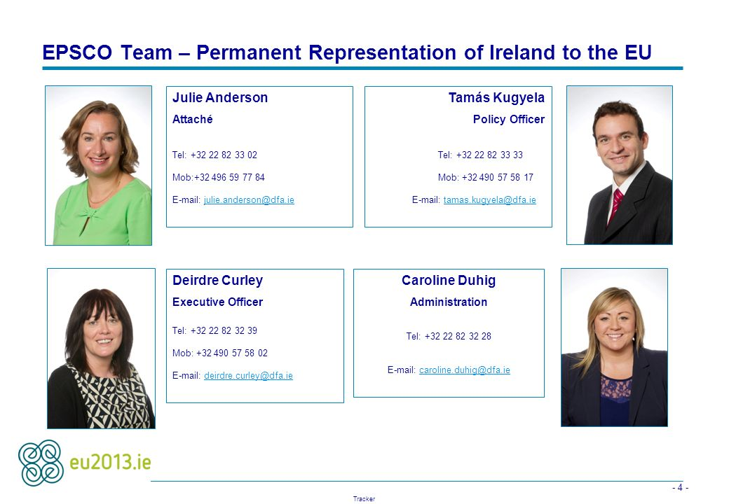 EPSCO Team – Permanent Representation of Ireland to the EU