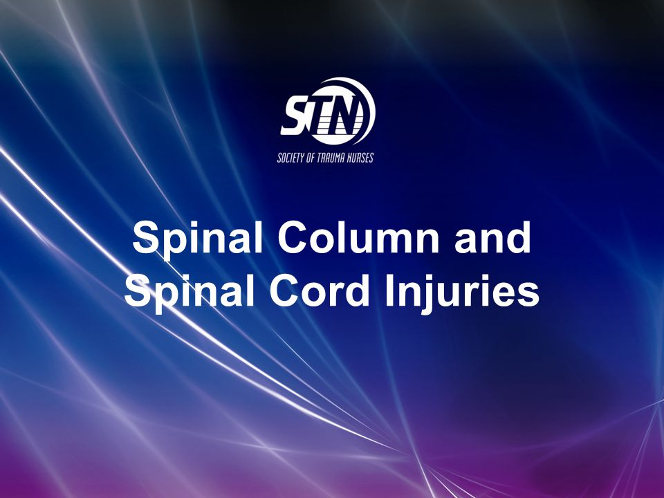 Spinal Column and Spinal Cord Injuries