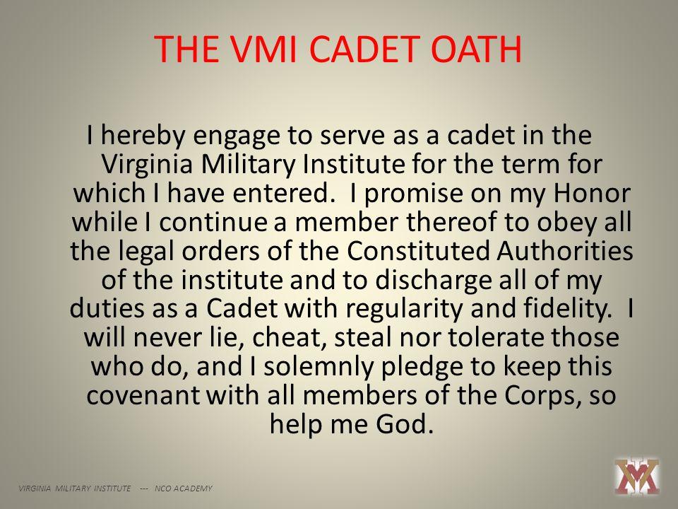 THE VMI CADET OATH