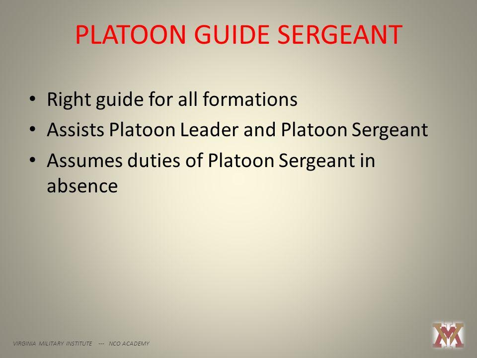 PLATOON GUIDE SERGEANT