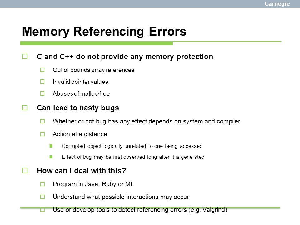 Memory Referencing Errors