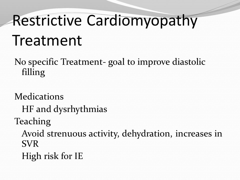 Restrictive Cardiomyopathy Treatment