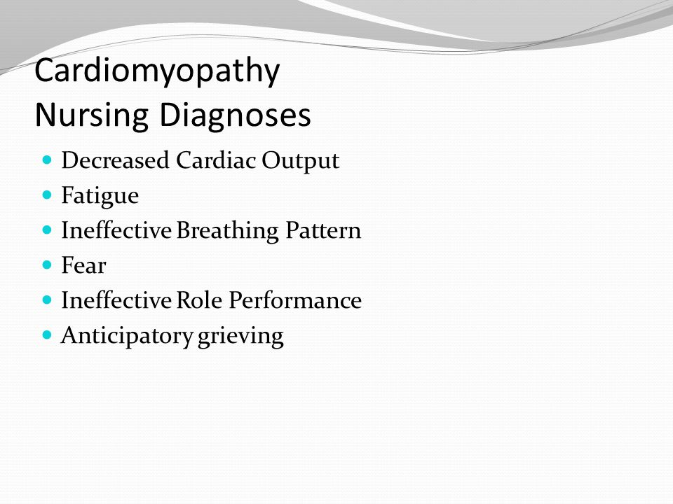 Cardiomyopathy Nursing Diagnoses