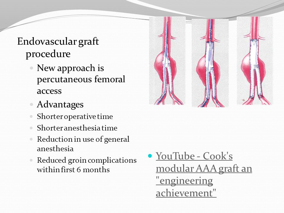 Endovascular graft procedure