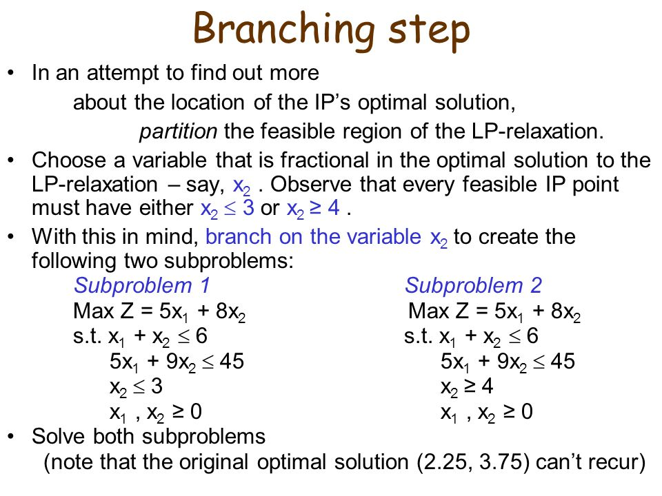 Branching step In an attempt to find out more