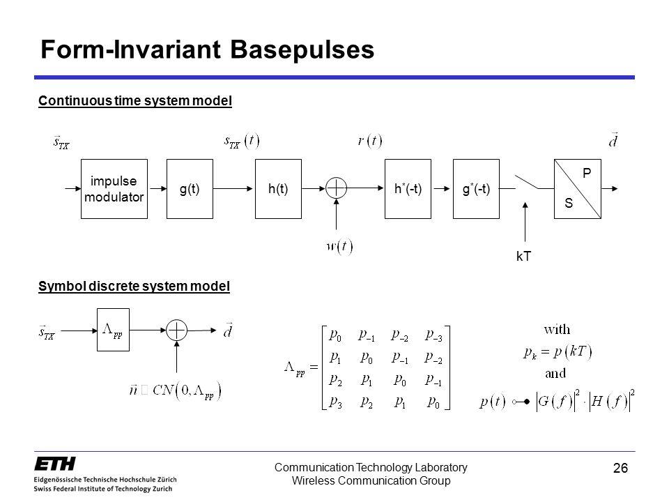 Form-Invariant Basepulses