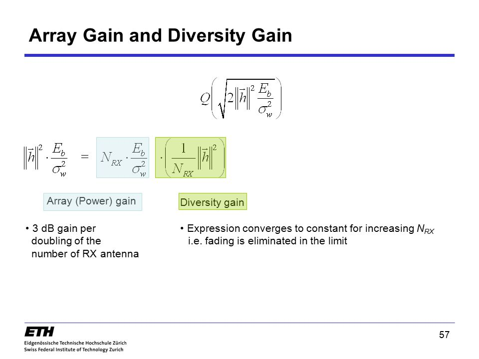 Array Gain and Diversity Gain