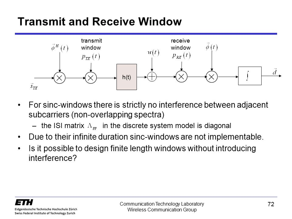 Transmit and Receive Window
