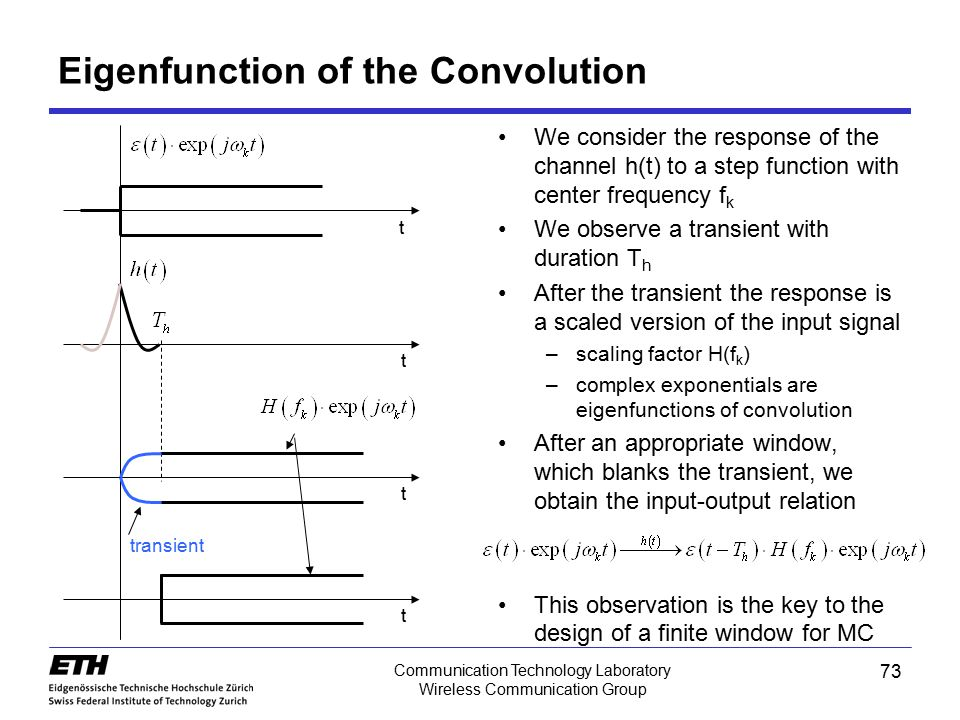 Eigenfunction of the Convolution