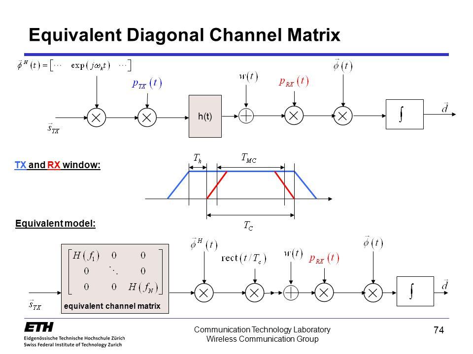 Equivalent Diagonal Channel Matrix