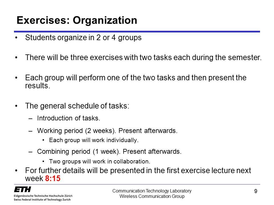 Exercises: Organization
