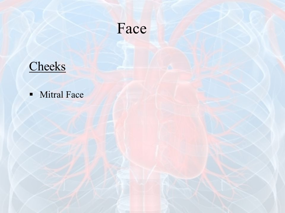 Face Cheeks Mitral Face