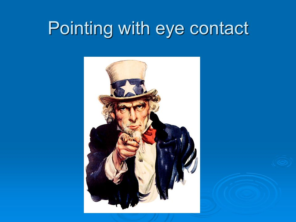 Pointing with eye contact