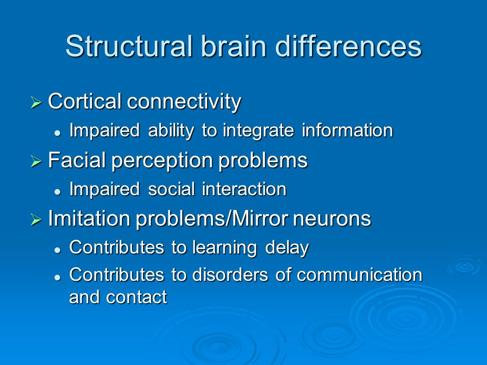 Structural brain differences