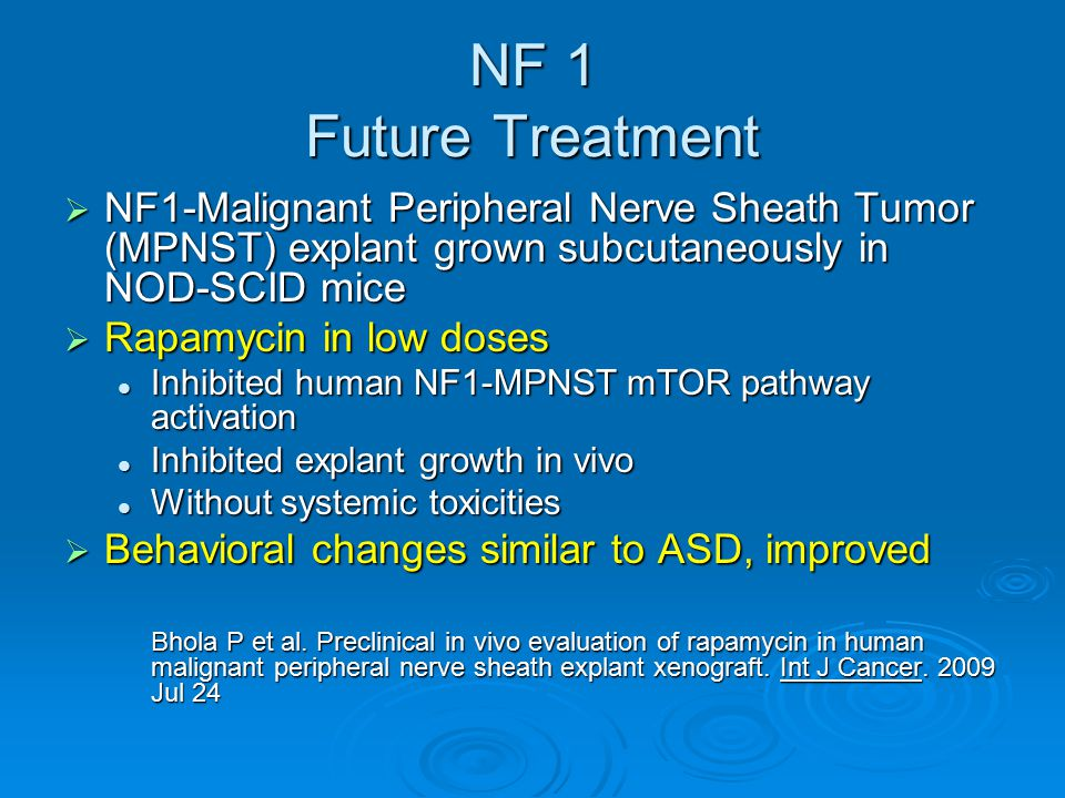 NF 1 Future Treatment NF1-Malignant Peripheral Nerve Sheath Tumor (MPNST) explant grown subcutaneously in NOD-SCID mice.