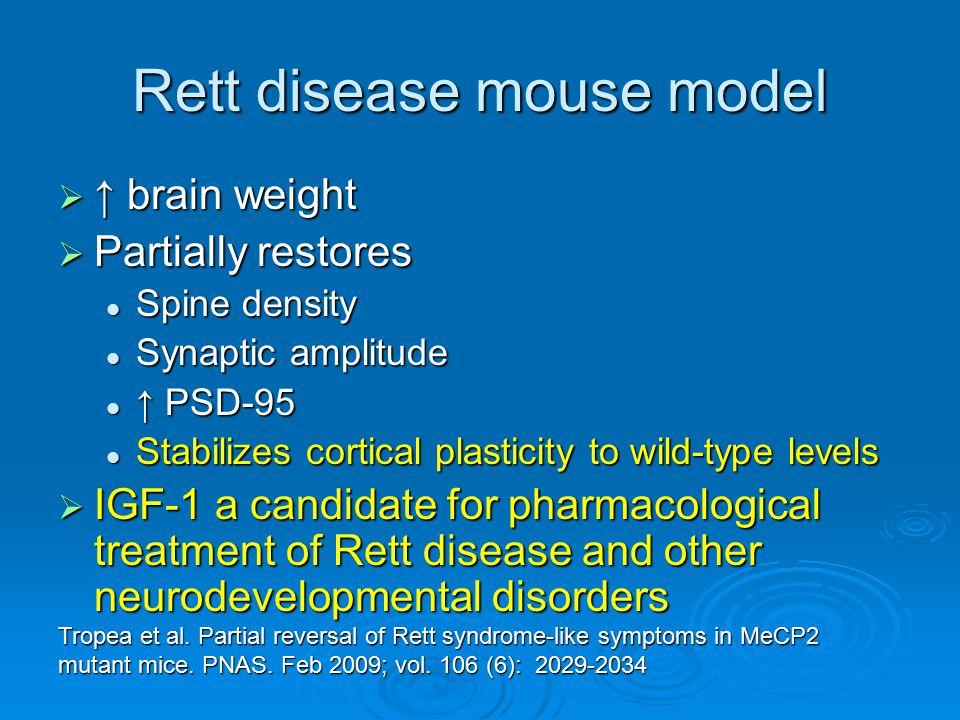Rett disease mouse model