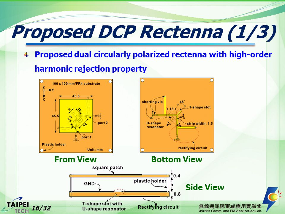 Proposed DCP Rectenna (1/3)