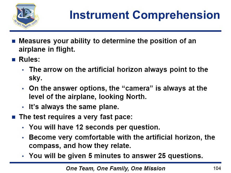 Instrument Comprehension