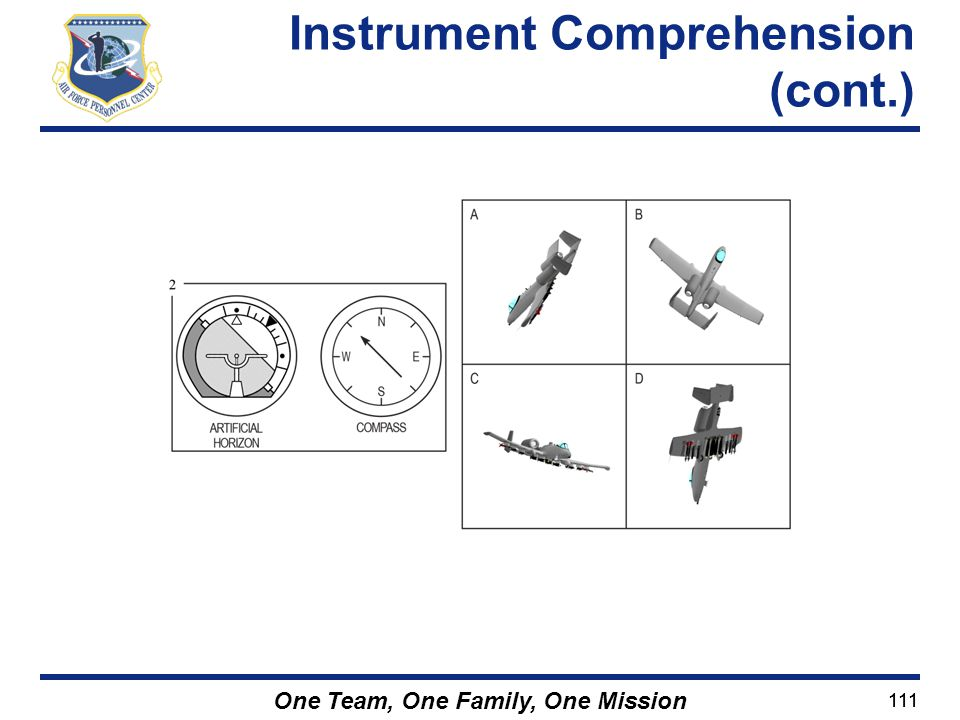 Instrument Comprehension (cont.)