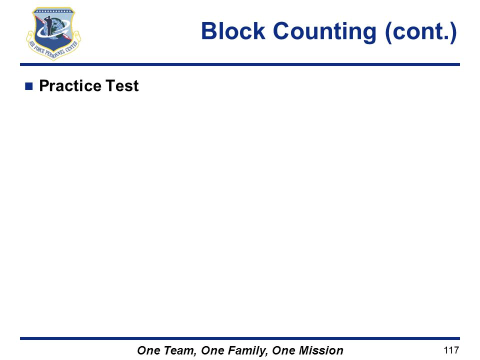 Block Counting (cont.) Practice Test