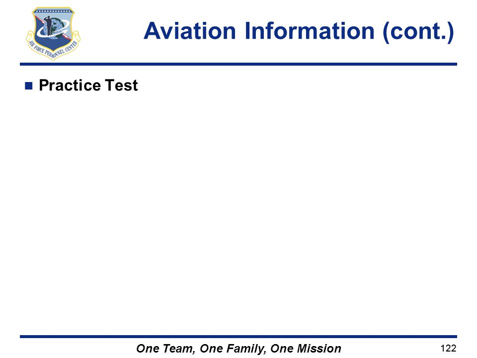 Aviation Information (cont.)