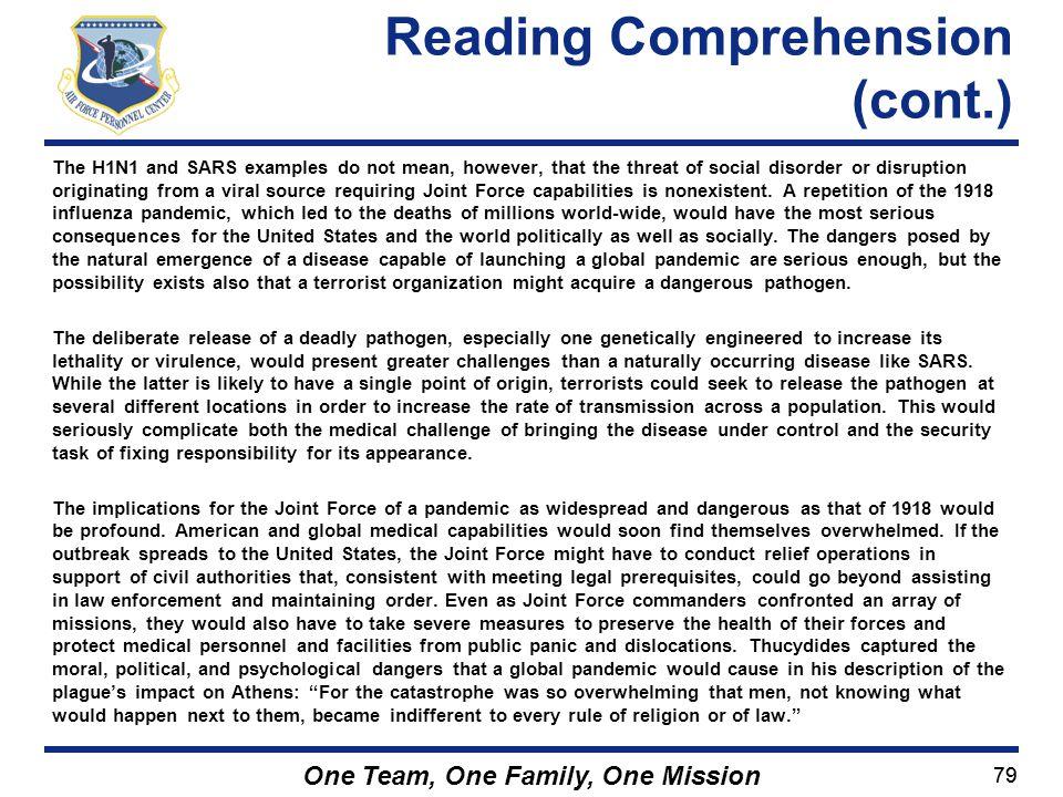 Reading Comprehension (cont.)