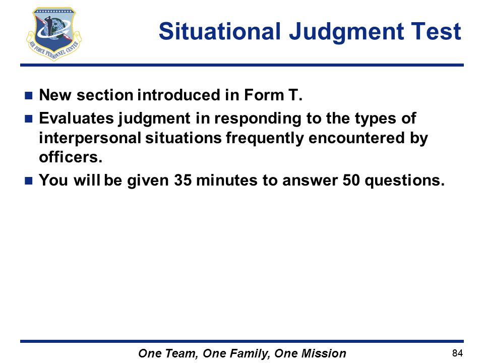 Situational Judgment Test
