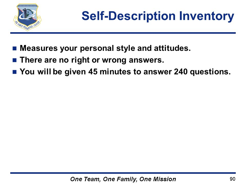 Self-Description Inventory
