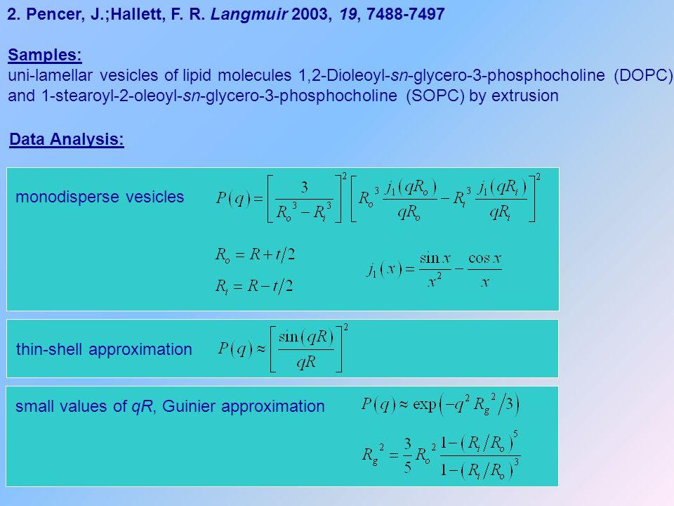 2. Pencer, J.;Hallett, F. R. Langmuir 2003, 19, 7488-7497