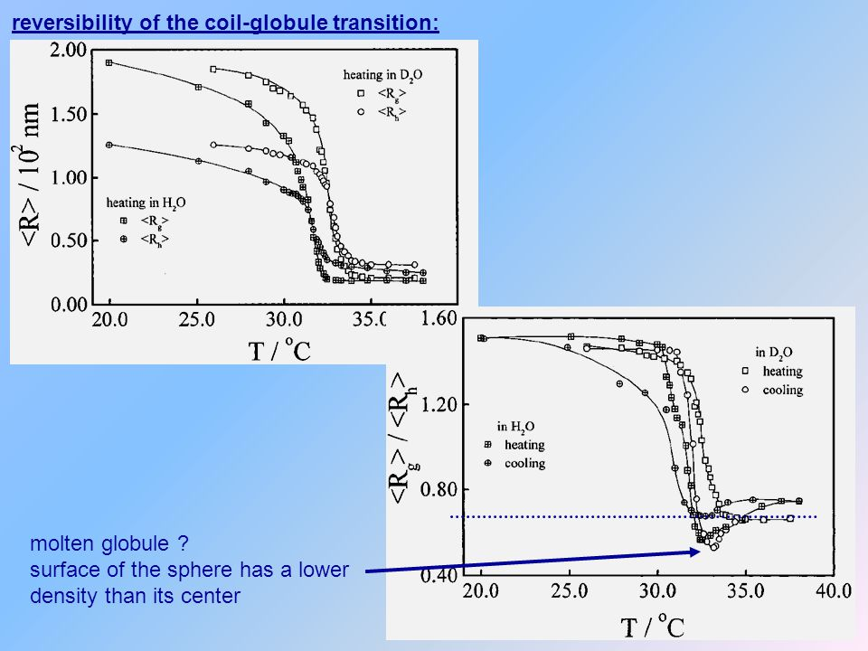 reversibility of the coil-globule transition: