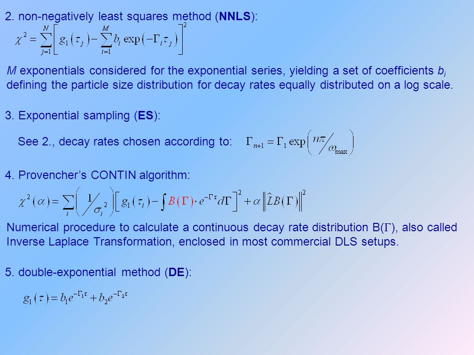 2. non-negatively least squares method (NNLS):