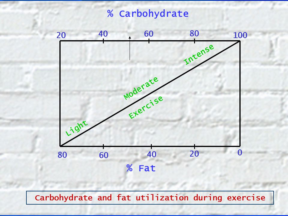 Carbohydrate and fat utilization during exercise