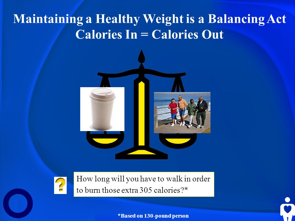 Maintaining a Healthy Weight is a Balancing Act
