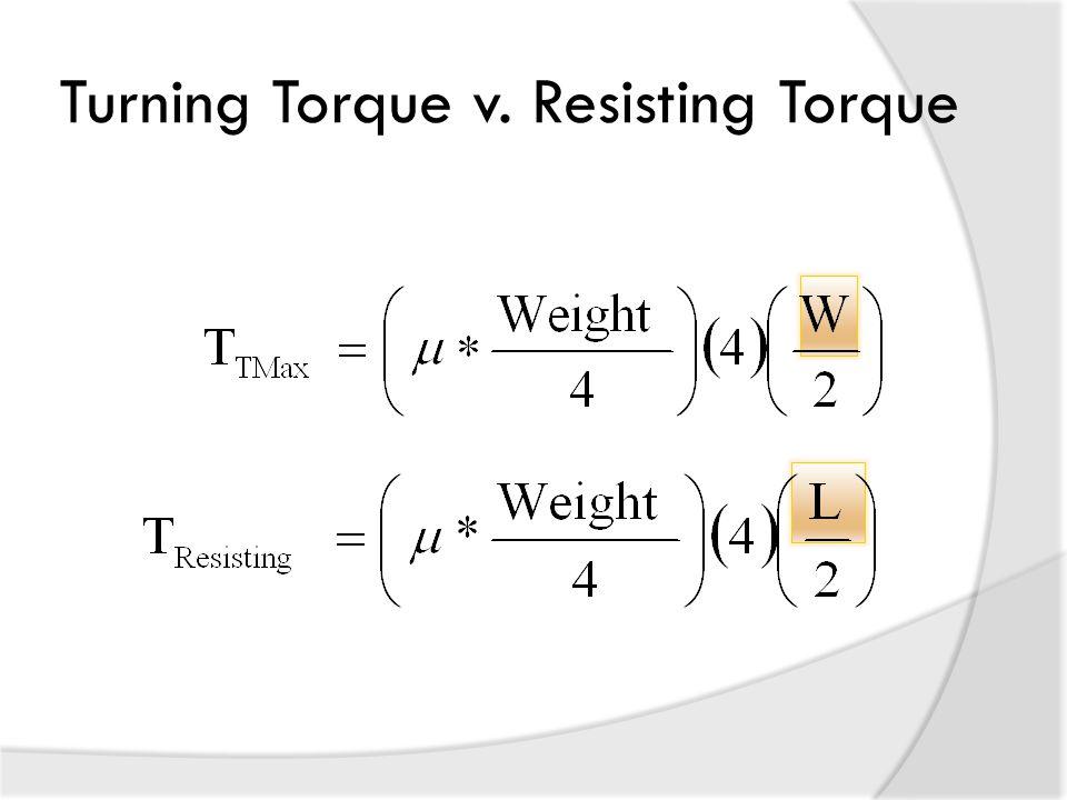 Turning Torque v. Resisting Torque