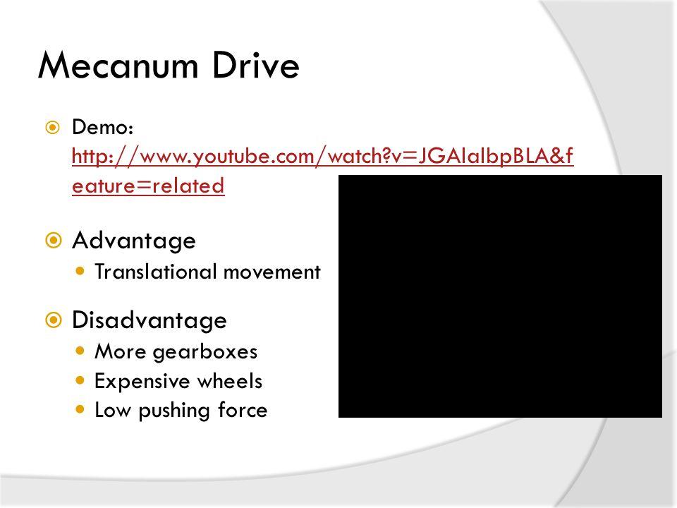 Mecanum Drive Advantage Disadvantage