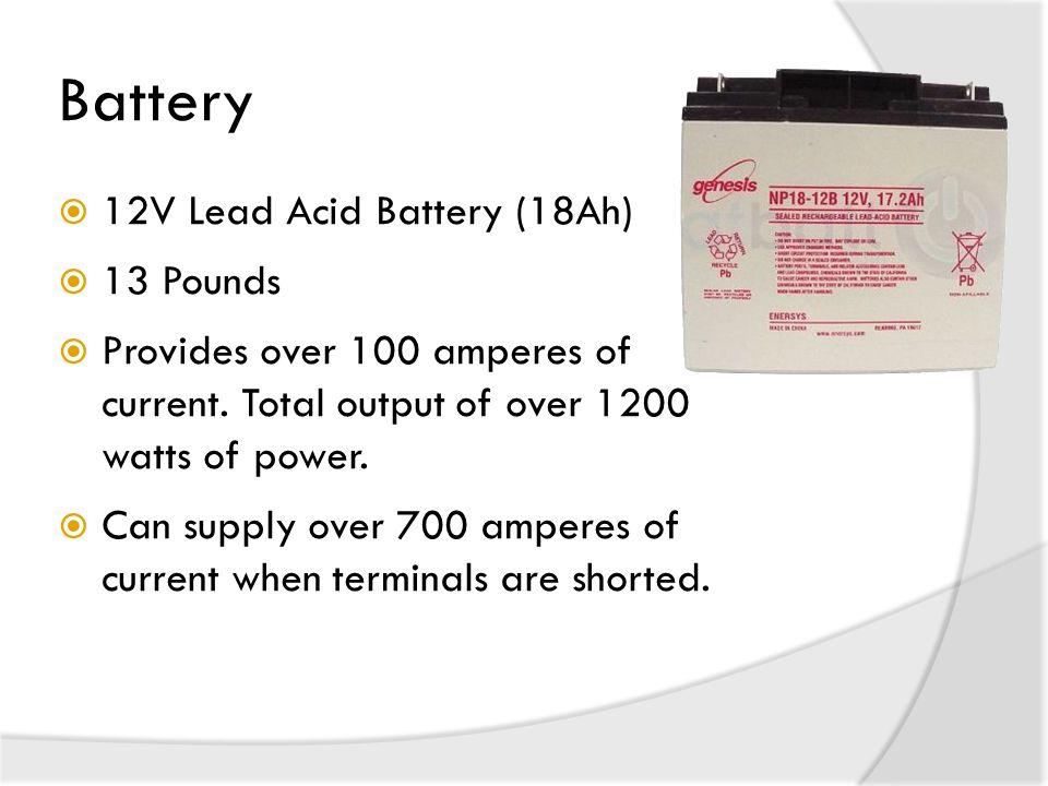 Battery 12V Lead Acid Battery (18Ah) 13 Pounds