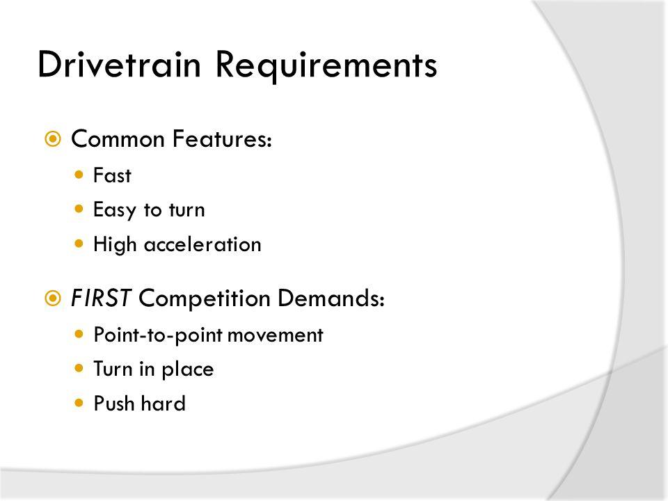 Drivetrain Requirements
