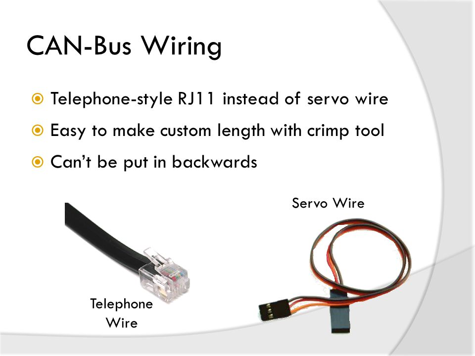 CAN-Bus Wiring Telephone-style RJ11 instead of servo wire